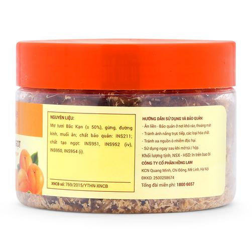 Ô mai mơ gừng chua mặn ngọt Hồng Lam hộp 200g 1
