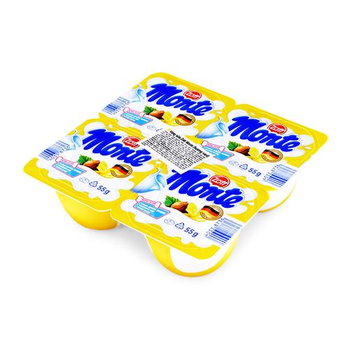 Váng sữa hương vani Zott Monte vỉ 4 hộp x 55g 1