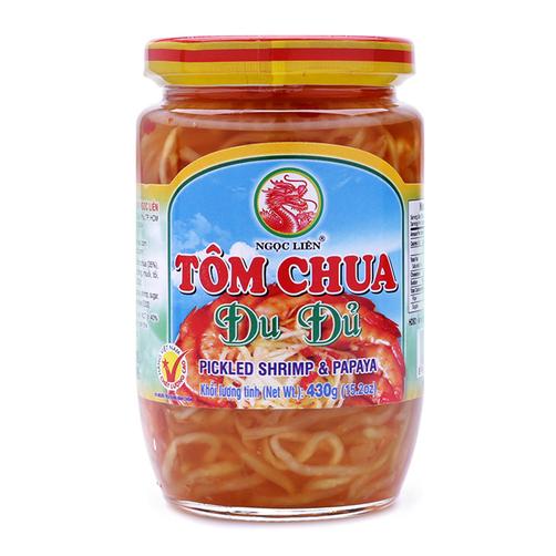 Tôm chua đu đủ Ngọc Liên lọ 430g