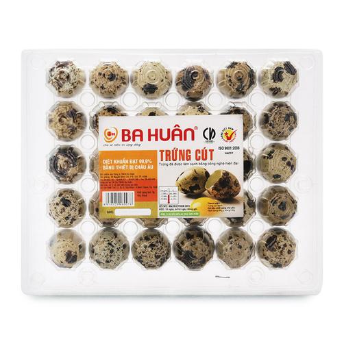Trứng cút Ba Huân hộp 30 quả