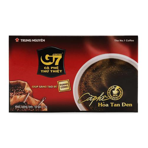 Cà phê đen hòa tan G7 hộp 30g 1