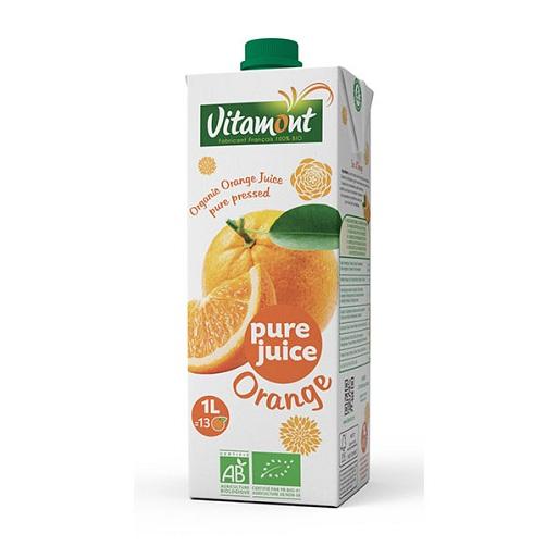 Nước ép cam hữu cơ Vitamont hộp 1L