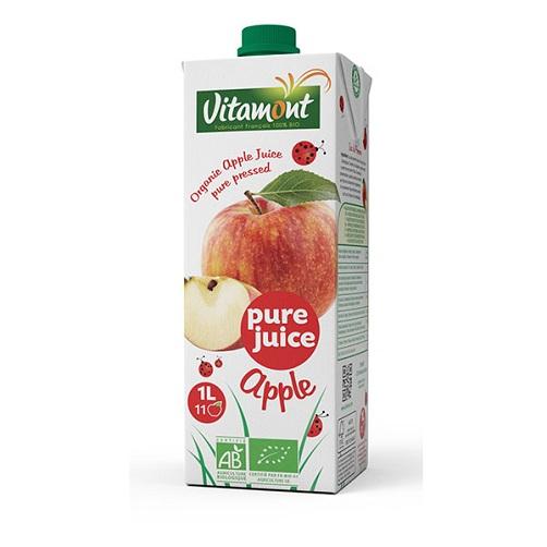 Nước ép táo hữu cơ Vitamont hộp 1Lít