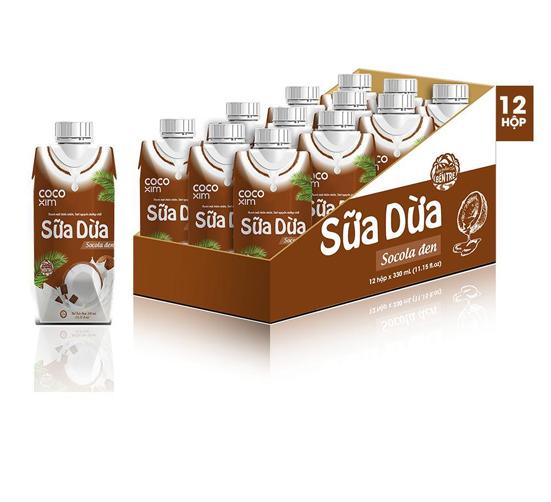 Sữa Dừa Đóng Hộp Vị Chocolate CoCoXim Thùng 12 Hộpm
