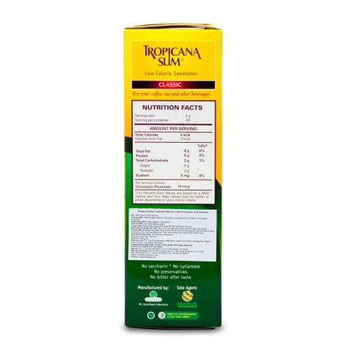 .Đường bắp ăn kiêng Tropicana Slim Sucralose 100g