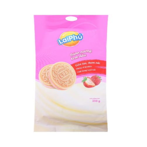 Bánh French Cookies Lai Phú Dâu gói 350g