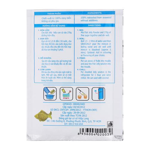 Bột Rau Câu Con Cá Dẻo Hiệp Long Gói 10g - Cung cấp thực phẩm - Csfood