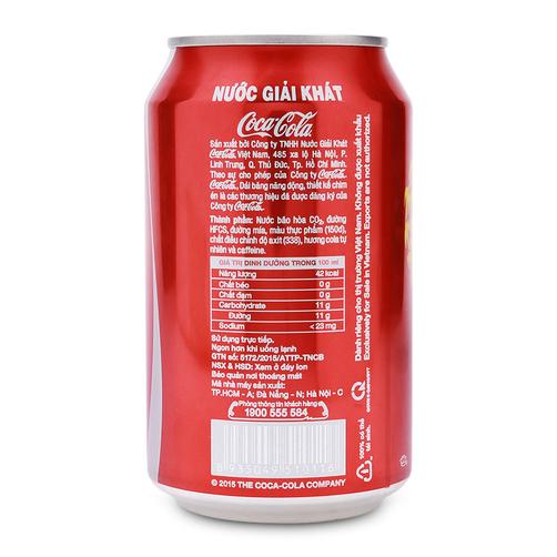 Nuoc Giai Khat Coca Cola Lon 330ml 1