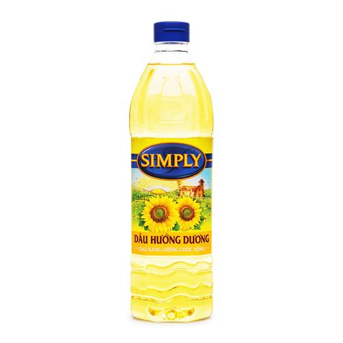 Dầu hướng dương Simply chai 1L.1