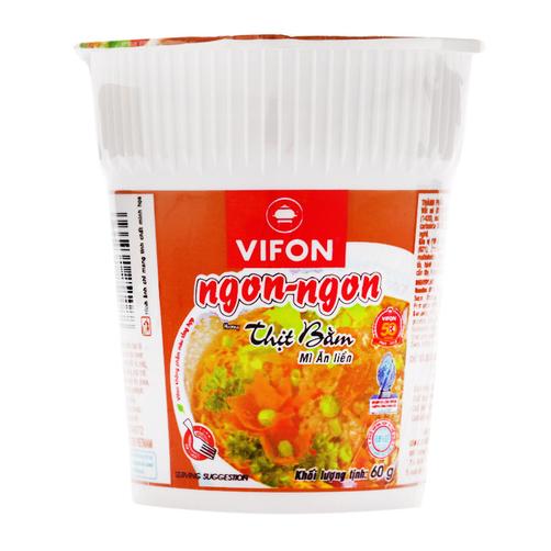 Mì ăn liền hương thịt bằm Ngon Ngon Vifon cốc 60g.1
