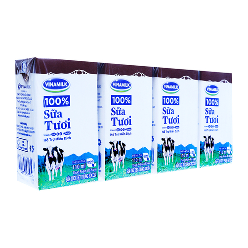 Sữa tươi tiệt trùng sô cô la Vinamilk lốc 4 hộp x 110ml 1