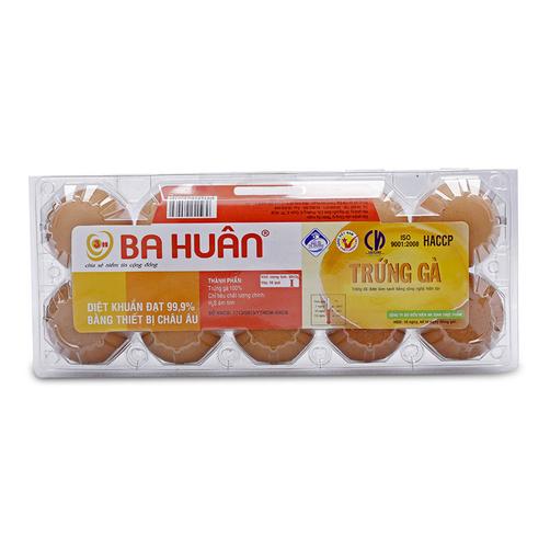 Trứng gà Ba Huân hộp 10 quả
