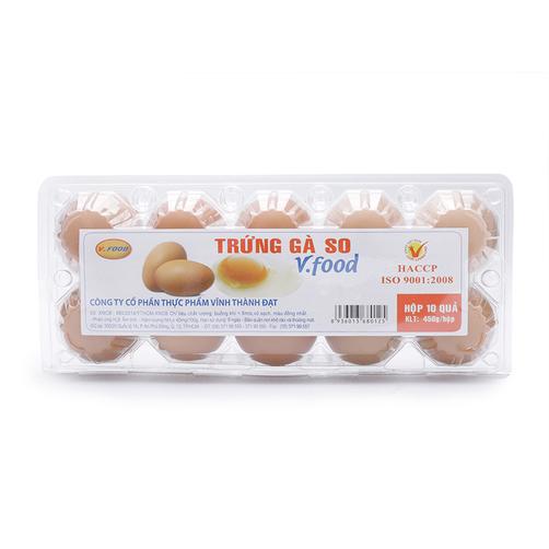 Trứng gà so V.Food hộp 10 quả