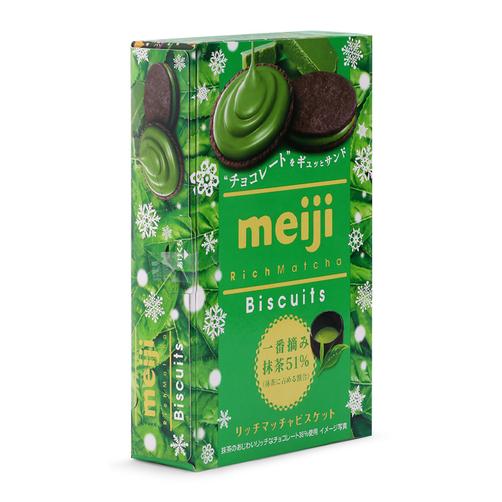 Bánh biscuit trà xanh Meiji hộp 99g 1
