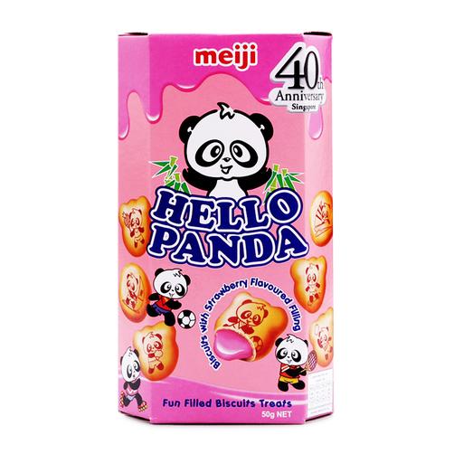 Bánh kem dâu Hello Panda Meiji hộp 50g