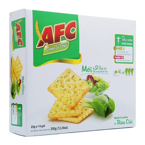 Banh Cracker Vi Rau Cai AFC Kinh Do Hop 350g 1