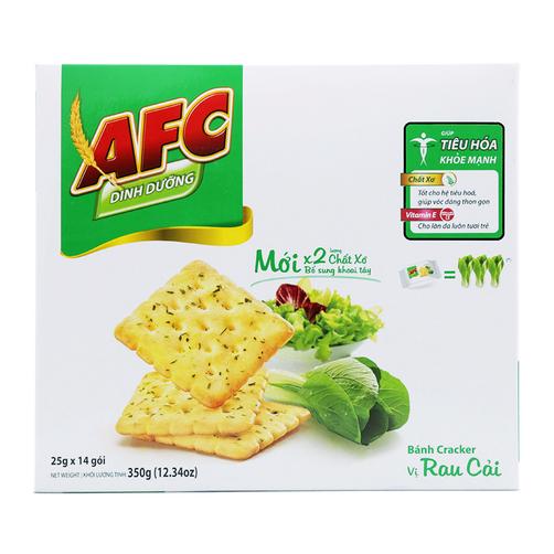 Banh Cracker Vi Rau Cai AFC Kinh Do Hop 350g