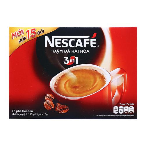 Cà phê hòa tan 3 trong 1 Nescafé hộp 255g