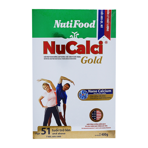 Sữa bột NuCalci Gold NutiFood hộp 400g