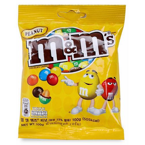 Kẹo Socola Nhân Đậu Phộng M&M's Gói 100g