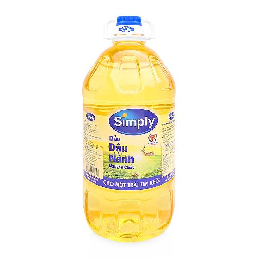 dầu đậu nành simply 5 lít