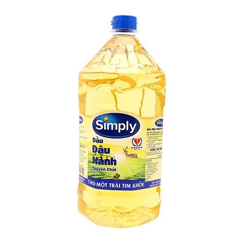 dầu đậu nành simply chai 2 lít