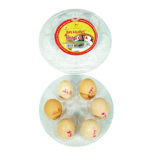 Trứng gà ta ba huân hộp 6 quả