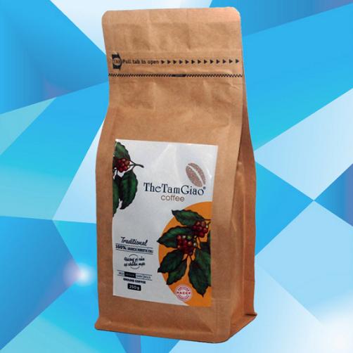 Cà phê hạt moka honey gói 340g