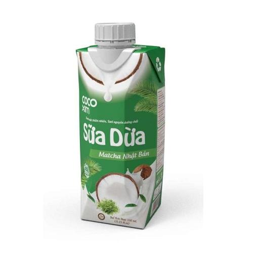 Sữa Dừa Đóng Hộp Vị Matcha CoCoXim Thùng 12 Hộp3