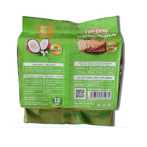 Bánh dừa nướng Thái Bình gói 180g.,.