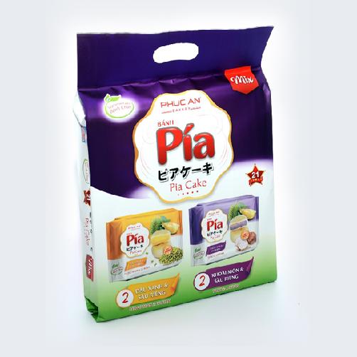 Bánh Bía Chay Mix Đậu Xanh -Khoai Môn Phúc An gói 400g