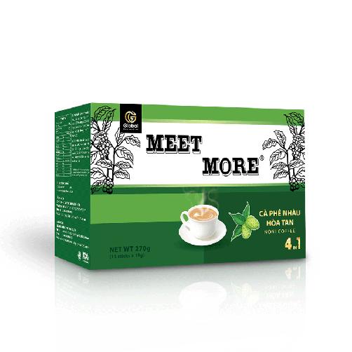 Cà phê nhàu hòa tan 4 in 1 Meet More 270g