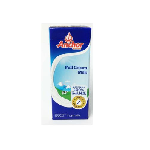 Anchor UHT Milk Full Cream Hộp 200ml