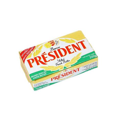 Bơ Mặn 80% Béo Hiệu Président Miếng 200g