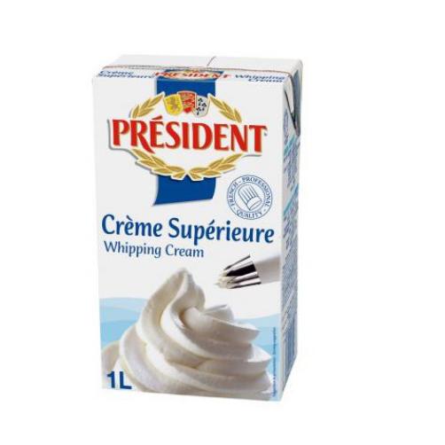 Kem Tươi Whipping Cream Hiệu Président Hộp 1 Lít