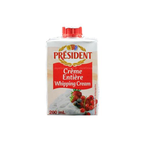 Kem Tươi Whipping Cream Hiệu Président Hộp 200ml