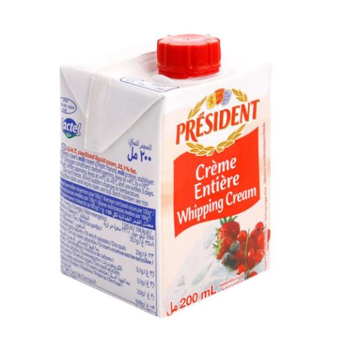 Kem Tươi Whipping Cream Hiệu Président Hộp 200ml,