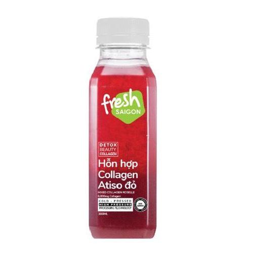 Detox Collagen Roselle-Collagen Atiso Đỏ Fresh Saigon Chai 300ml