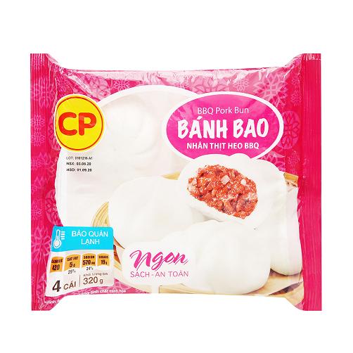 Bánh Bao Nhân Thịt Heo BBQ CP Gói 320g