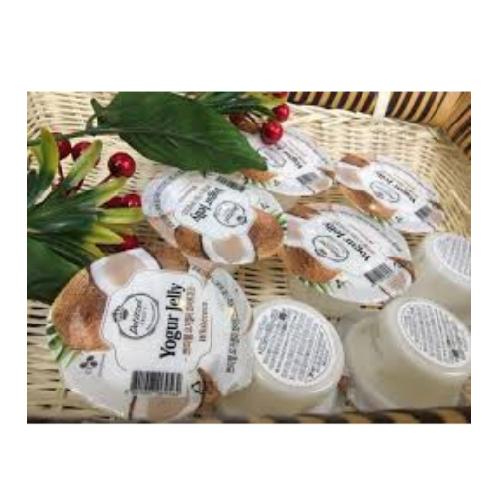 Thạch Dừa Sữa Chua Petitzel Thực Phẩm Cầu Tre Hộp 250g x Thùng 12 Hộp,