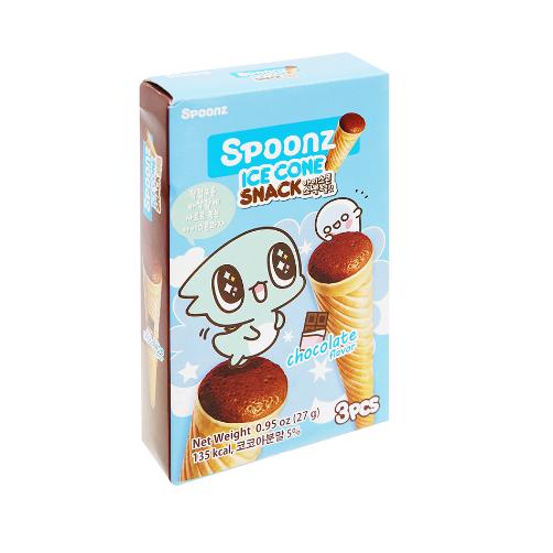 Bánh Xốp Spoonz Snack Ice Cone Vị Chocolate Hộp 27g