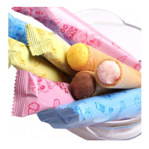 Bánh Xốp Spoonz Snack Ice Cone Vị Dâu Hộp 27g,