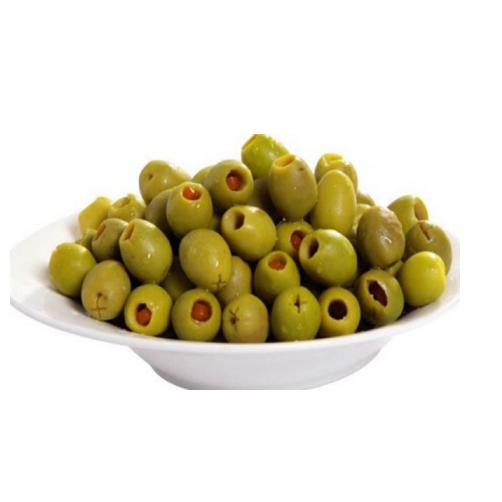 Olive Xanh Trái Nhỏ Nhồi Ớt Ngọt Fragata Lọ 450g x Thùng 12 Lọ,