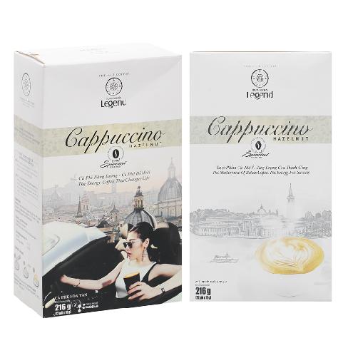 Cà phê Cappuccino G7 Trung Nguyên Hazelnut Hộp 216g