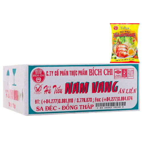 Hu Tieu Nam Vang Bich Chi Goi 60g x Thung 30 Goi,