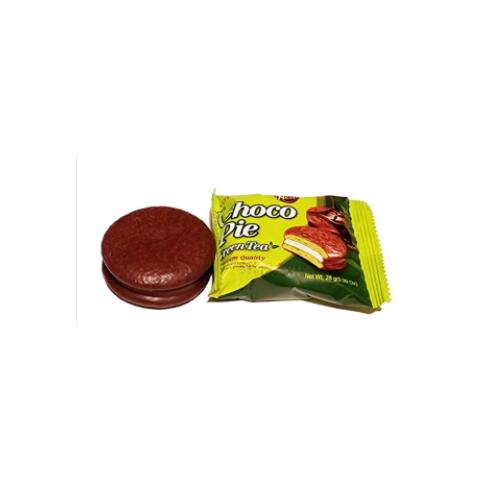 Banh Choco Pie Huong Vi Tra Xanh Lotte Hop 336g,