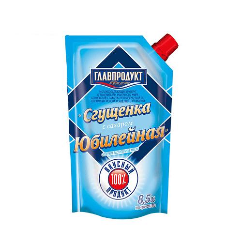 Sữa đặc nguyên chất Yubileinaya hiệu Glavproduct – túi 270g